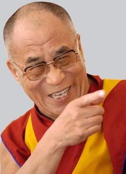 Avez-vous  déjà  entendu  le  rire  du    Dalaï-Lama  ?