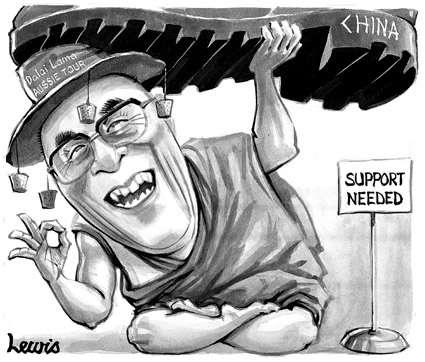 L'humour permet de supporter ...  beaucoup de choses...                                                                                          Bien-sûr et heureusement, le Dalaï-Lama n'en manque pas !